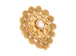 SPE Indian Ethnics Golden Ring for Women - Free Size (R-04)
