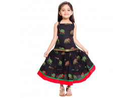 Archiecs Creations Camel Printed Lehanga Choli Set For Girls