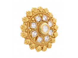 SPE Indian Ethnics Golden Ring for Women - Free Size (R-11)