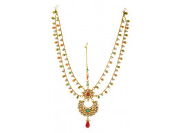 SPE Indian Ethnics Golden Maang Tikka for Women (FHL-01)