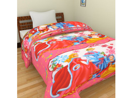Cartoon Polycotton Single Bed Blankets