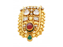 SPE Indian Ethnics Golden Ring for Women - Free Size (R-20)