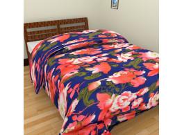 White Being Multi Flower Single Bed Blankets