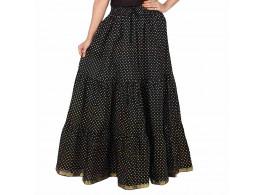 Archiecs Creation Self Design Women's Regular Skirt Black Polka (Free Size-SKT510)