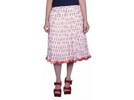 Pezzava Cotton Printed Knee length Skirt
