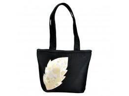 angelfish black dupeon leaf handbag