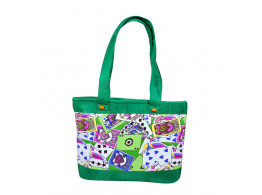 Angelfish digital handbag green
