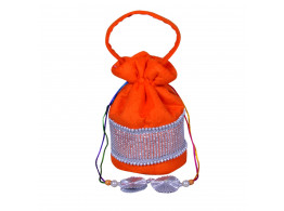 angelfish potali bag orange shining velvet