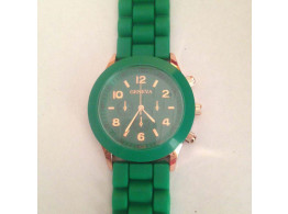 Women's or Girl's Watch Fashion Silicone Strap Candy Color Length 25Cm Green