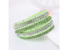 Multilayer Crystal Bracelet Light Shining - Green
