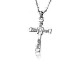 Alloy Diamond Cross Necklace