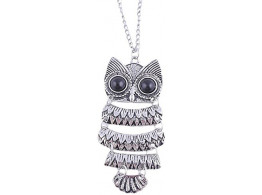 Angelfish Cinderella Collection By Shining Diva Long Chain Owl Alloy Pendant