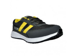 Glamour Grey Yellow Sports Shoes (ART-MARATHON)