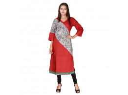 Bhoomi Red with black human print Kurti