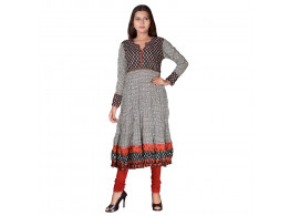 Pneha AnarKali Women's Kurti (Multicolor)