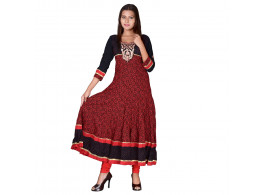Pneha AnarKali Women's Kurti (Maroon color)