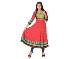 Pneha AnarKali Women's Kurti (Red color)