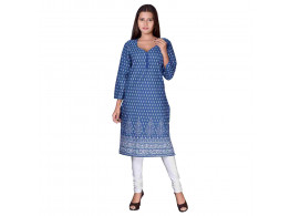 Pneha Casual Printed Women's Kurti  (Multicolor)