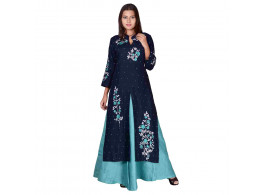 Bhumi Fashion Cotton Blue Women's Kurti