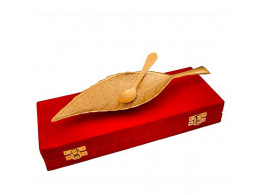 Brass Leaf Shaped Tray