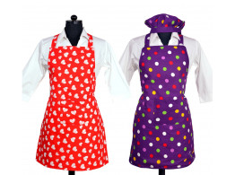 Switchon waterproof cotton Kitchen apron with front pocket pack of 2