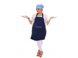 Switchon Polyester Waterproof Free Size Apron With Cap