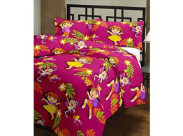 CrazeVilla Dora cartoon print single bed reversible Ac Blanket/Dohar for kids