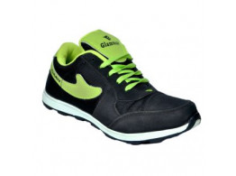 Glamour Black Green Sports shoes (ART-6071)