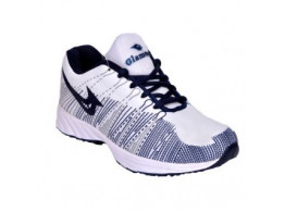 Glamour White Blue Sports Shoes (Art-VISA3)