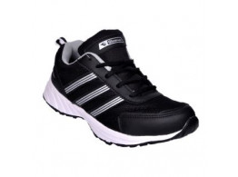 Glamour Black Grey Sports Shoes (ART-3047)