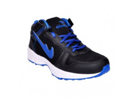 Glamour Black R Blue Sports Shoes (ART-4041)