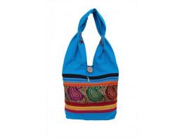 The Living Craft Zari Stripe Canvas Women's  JHOLA Multicolor TLCBG0297
