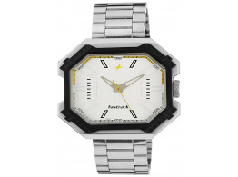 Fastrack 3108SM01 Analog White Dial Men Watch