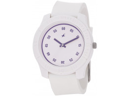 Fastrack ND3062PP21 Tees Analog White Dial Unisex Watch