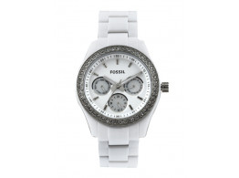 Fossil ES1967I Women White Dial Chronograph Watch