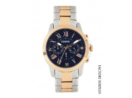 Fossil FS5024I Men Navy Dial Chronograph Watch