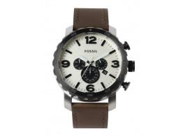 Fossil JR1390I Men White Dial Chronograph Watch