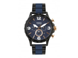Fossil JR1494I Men Navy Dial Chronograph Watch