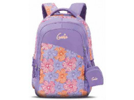 Genie Florid Purple 17 L Backpack For Girls