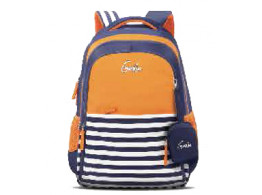GENIE NAUTICAL PLUS ORANGE 27L SCHOOL BAGS FOR GIRLS