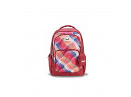 Genie Plaids Pink 36L Backpack For Girls