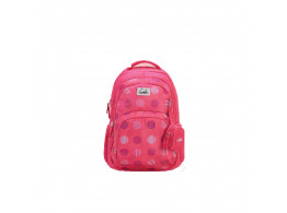 Genie Polka Polka Pink 27L Backpack For Girls