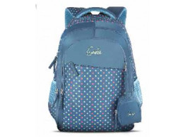 Genie Retro Blue 23L Backpack For Girls