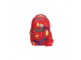 Genie Sketchup Red 19L Backpack For Kids