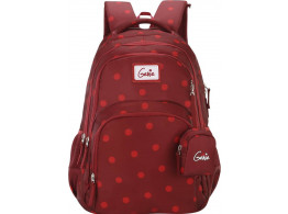 Genie Velvet Maroon 36L Backpack For Girls