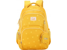 "Genie Velvet Yellow 19"" Backpack For Girls"