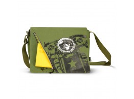 GENIUS INFERNO GREEN MESSENGER BAGS