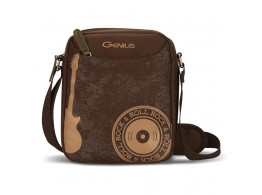 GENIUS ROCK&ROLL BROWN MESSENGER BAGS