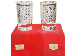 Brass Silver Glass Set