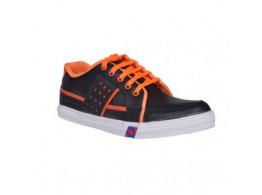 Glamour Black Orange Casual Shoes
